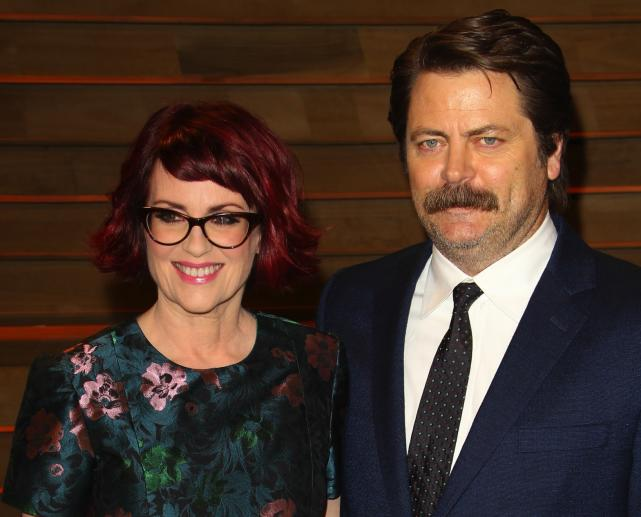 Megan Mulally and Nick Offerman