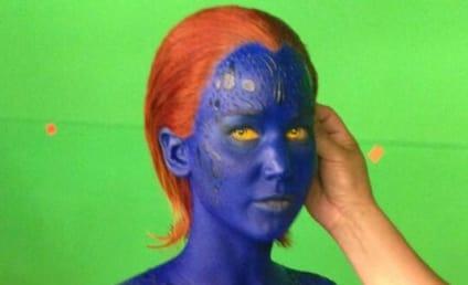 X-Men: Days of Future Past Set Pic Shows Jennifer Lawrence in Full Mystique Makeup
