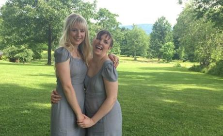 Lena Dunham as a Bridesmaid