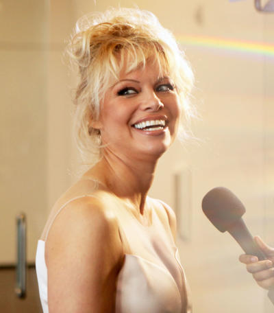 Pamela Anderson at the Mic