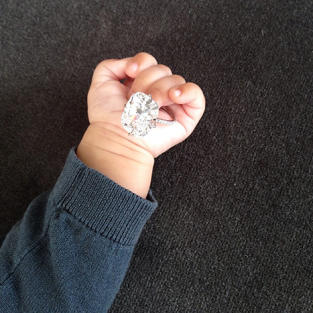 North West, Kim Kardashian Engagement Ring