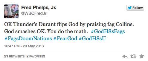WBC Phelps Tweet