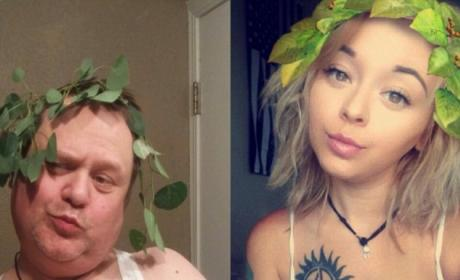 Greatest Dad Ever Recreates Daughter's Selfies