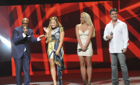 Demi Lovato and Britney Spears at Upfront
