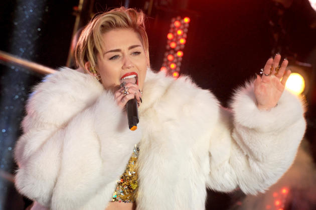 Miley Cyrus in Times Square