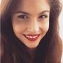 Lina Sandberg red lipstick