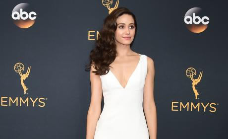 Emmy Rossum at the 2016 Emmys