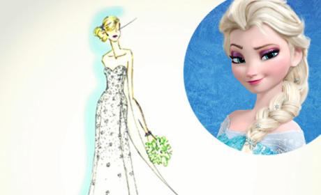 Frozen Wedding Dress
