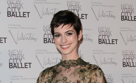 Anne Hathway with Short Hair