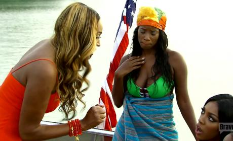 RHOA: Cynthia Bailey Flips Out on Porsha Williams