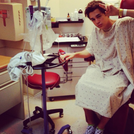 Austin Mahone in the Hospital