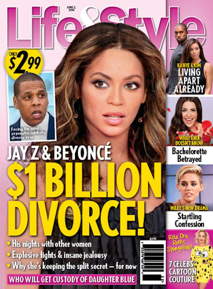 Beyonce and Jay Z Divorce Cover