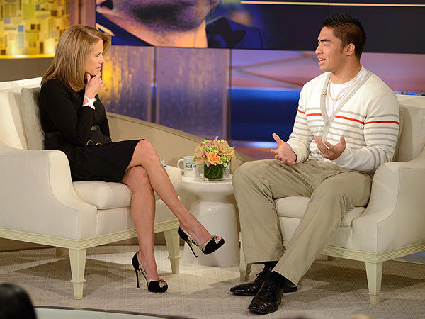 Manti Te'o and Katie Couric