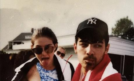 Joe Jonas and Gigi Hadid at the Party