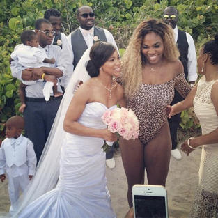 Serena Williams Crashes Miami Wedding