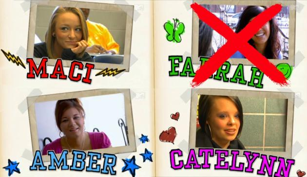 Teen Mom Cast Title Card