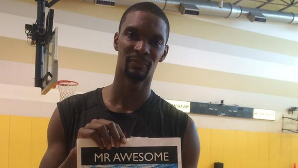 Chris Bosh Loves Mr. Awesome