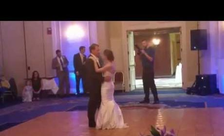 "Father Shocks Daughter with Unconventional Wedding ""Dance"""