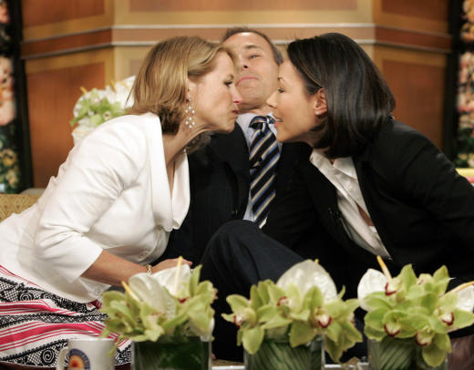 Katie Couric and Ann Curry