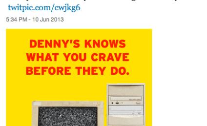 Denny's Tweet Mocks NSA Scandal: Funny or Foul?