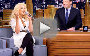 Christina Aguilera Impersonates Britney Spears!