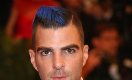 Zachary Quinto Blue Hair
