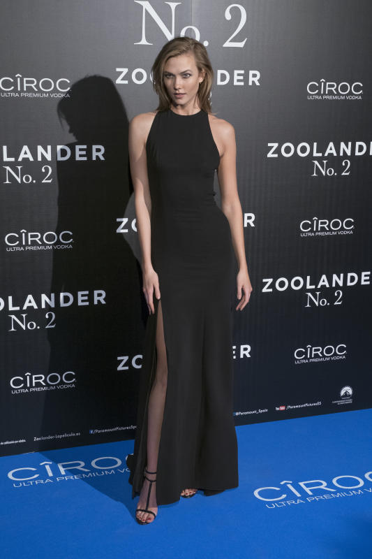 Karlie kloss madrid fan screening of zoolander no2