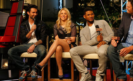 Adam Levine, Shakira and Usher