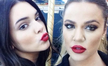 Kendall Jenner and Khloe Kardashian on Instagram