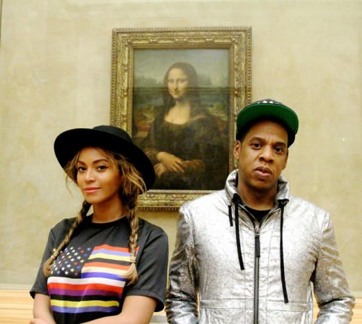 Beyonce and Jay Z: Mona Lisa Selfie