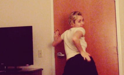 Miley Cyrus Twerks, Slaps Own Butt Backstage