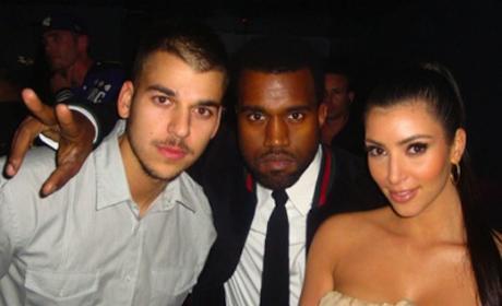 Kim, Kanye and Rob