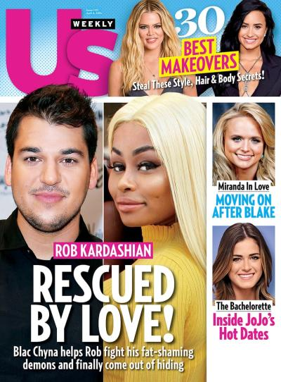 Rob Kardashian and Blac Chyna Cover