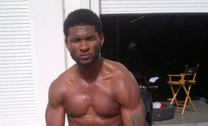 Usher Dead? No, Just Shirtless
