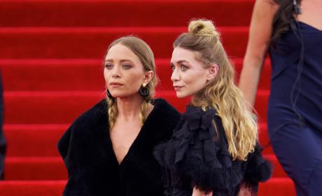 The Olsen Twins Ignore Theme, Go Goth at MET Gala