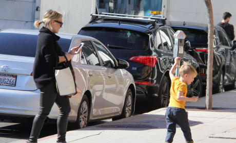 Hilary Duff's Son, Luca Dances On The Sidewalk
