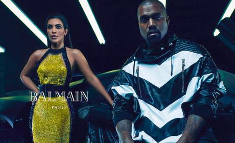 Kim Kardashian Balmain Ad