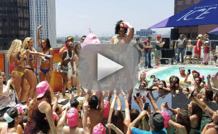 Demi Lovato Falls (HARD) During Pool Party