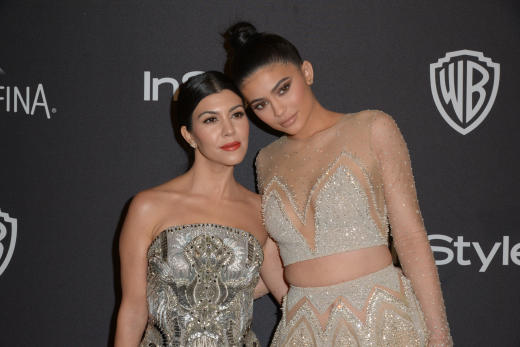 Kylie Jenner, Kourtney Kardashian: Golden Globes After-Party