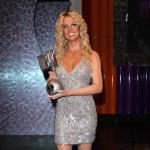 Britney with her Award