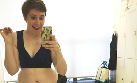 "Lena Dunham Rocks Sports Bra, Encourages Women to Be ""Proud and Happy"""