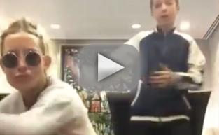"Kate Hudson, Son Ryder Dance to ""Trap Queen"""