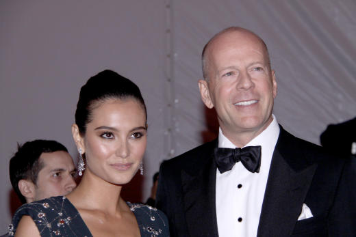 Emma Hemming and Bruce Willis Photo