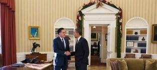 Obama, Romney White House Lunch