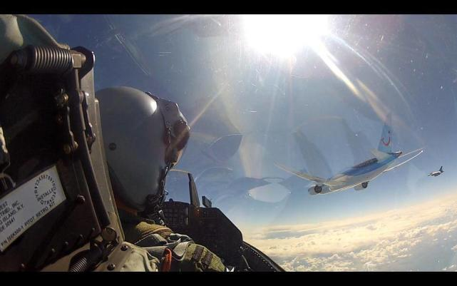 Fighter Jet Selfie Featuring Boeing