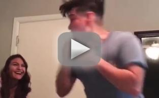 Man Reacts in Cutest Way Possible to Pregnancy Reveal