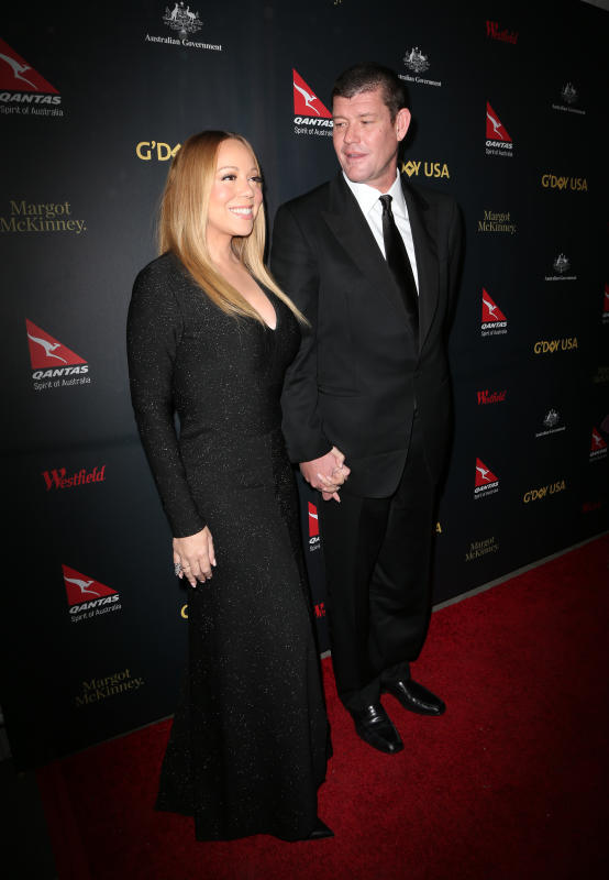 Mariah Carey and James Packer: 2016 G'Day Los Angeles Gala