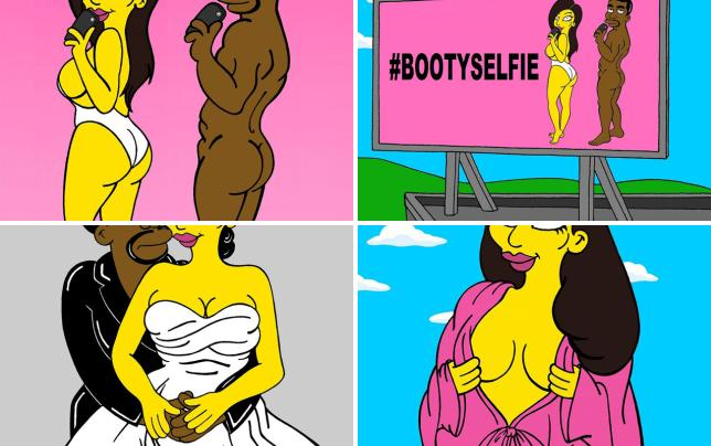 Kim kardashian gets animated see the pics kim and kanye naked