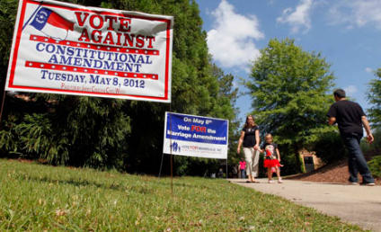North Carolina Amendment One Bans Gay Marriage in State