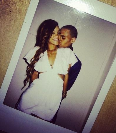 Rihanna and Chris Brown on Twitter